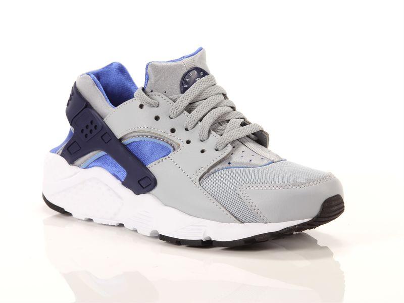 Image of Nike huarache run gs wolf grey binary blue comet blue white, 36½ Negro