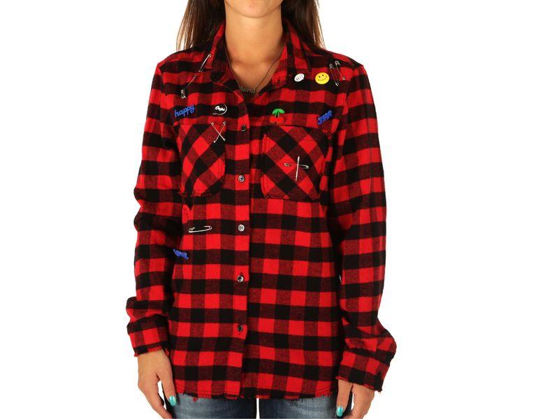 Berna camicia quadri rosso, XS ...