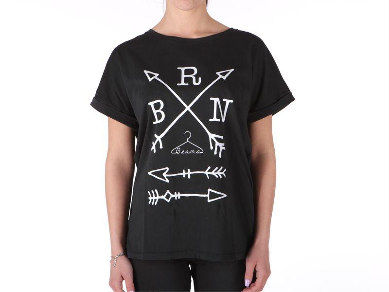 Image of Berna t-shirt donna logo nero, M, S Donna,