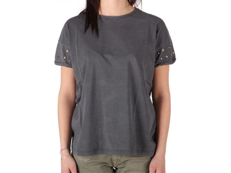Image of Berna t-shirt donna stelle e cuori nero, L, M, S Donna, Negro