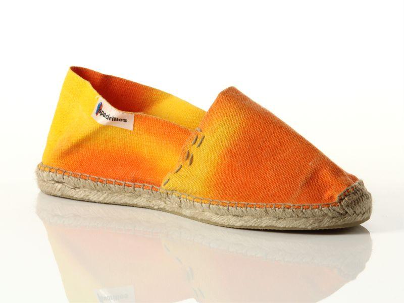 Image of Espadrilles alpargata plana tie naranja 105, 37, 38, 39, 40 Donna,