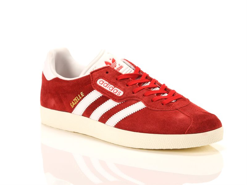 Image of Adidas gazelle super red vintage white gold, 42 Uomo,
