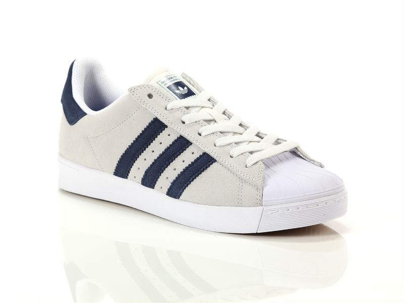 Image of Adidas super star vulc ad crystal white colelgiate navy, 36, 38 Uomo,
