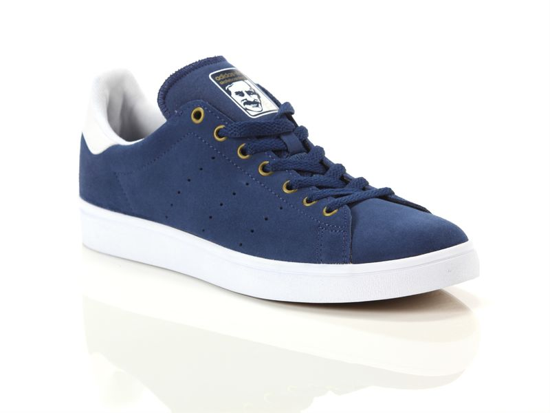 Image of Adidas stan smith vulc mystery blue white matte gold, 36, 38
