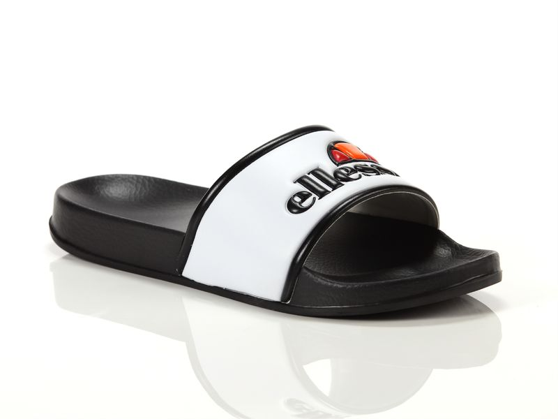 Image of Ellesse slide black white, 42, 43, 44 Uomo, Negro