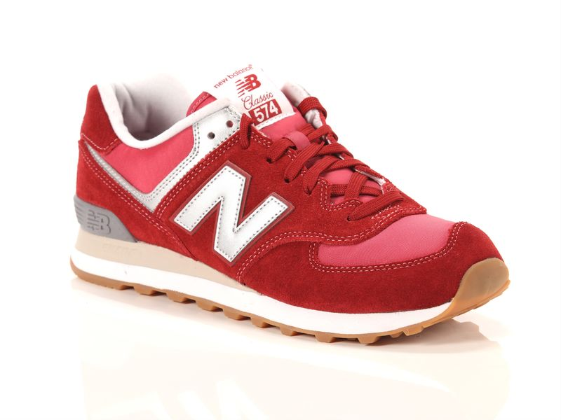 Image of New Balance 574 red grey, 41½, 42½ Uomo, Negro