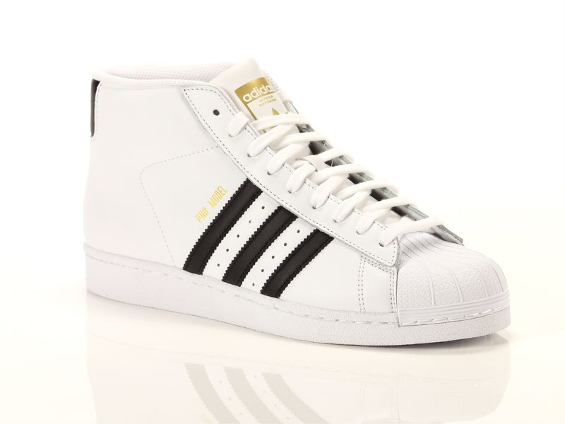 Image of Adidas pro model bianco nero, 46, 44 Negro