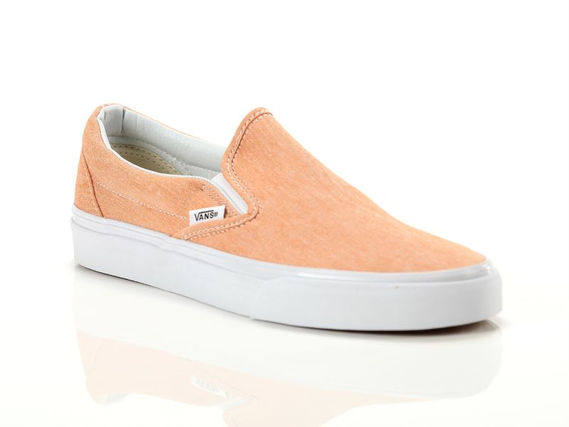 Image of Vans classic slip on chambray coral true white, 37, 38, 39, 40 Donna,
